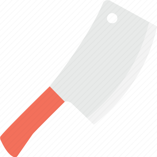 bloody knife, butcher knife, cleaver, frightening, horror cleaver icon