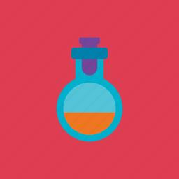 bottle, concoction, halloween, tube icon