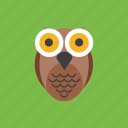 animal, halloween, owl, spooky icon