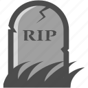 grave, gravestone, haunted, headstone, rest in peace, rip, spooky icon