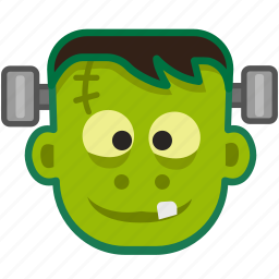cute, frankenstein, halloween, mask, monster, spooky, zombie icon