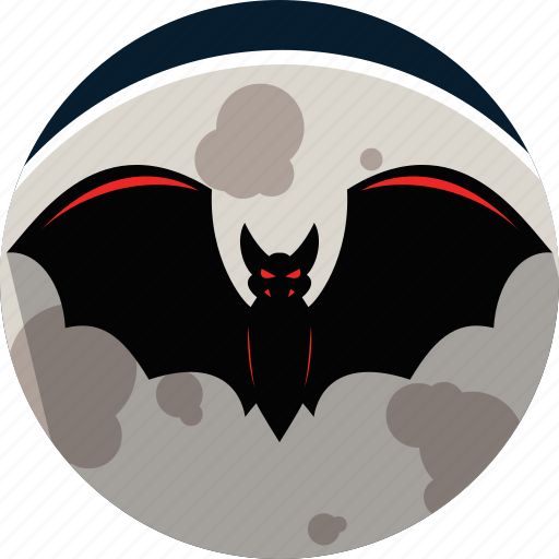 bat, evil, halloween, horror, moon icon