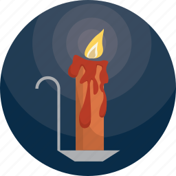 candle, halloween, light, scary icon