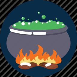 cauldron, death, halloween, poison icon