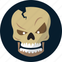 bones, death, halloween, skeleton, skull icon