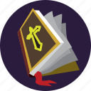 halloween, magic, spellbook, wizard icon