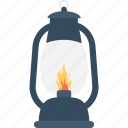 camping, lantern, light, mountain, torch icon