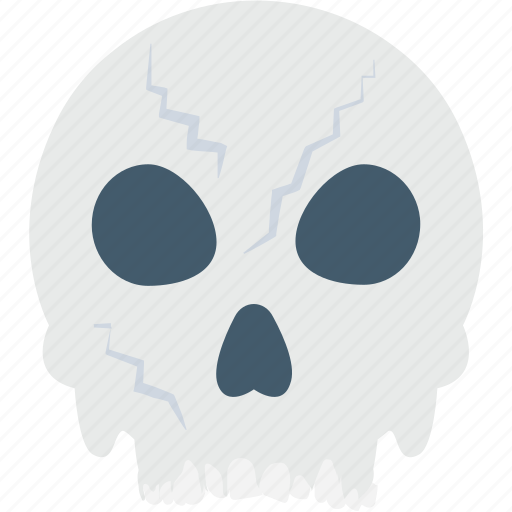 danger, dead, halloween, skull, warning icon