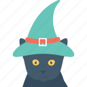 halloween, hat, scary, spooky face, witch hat icon