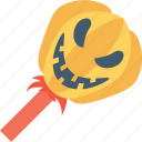 candy, confectionery, lollipop, pumpkin, pumpkin lolly icon