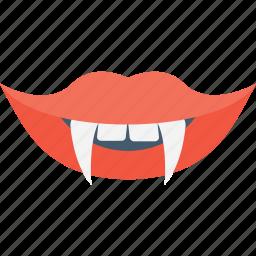 devil teeth, fangs, vampire, vampire mouth icon
