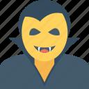 dracula, halloween, monster, undead, vampire face