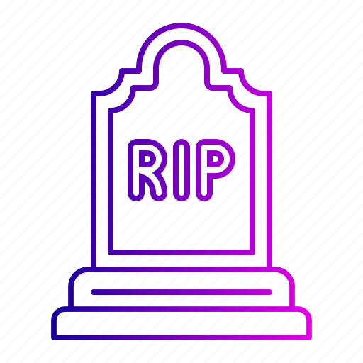 death, funeral, grave, halloween, rip icon