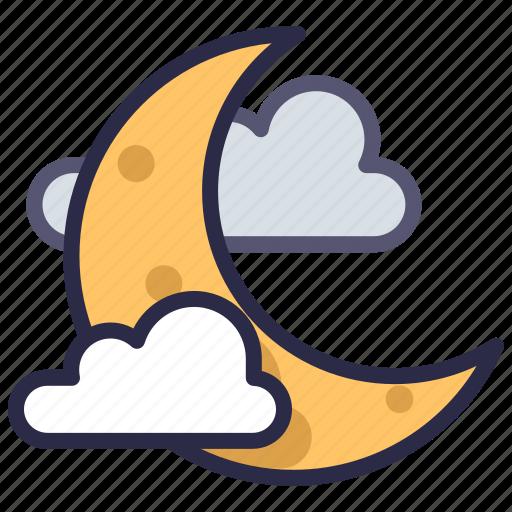 halloween, moon, night icon