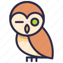 animal, halloween, owl icon