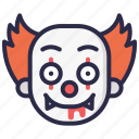 character, clown, halloween, it, pennywise, scary icon