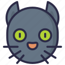 black cat, devil, evil, halloween icon