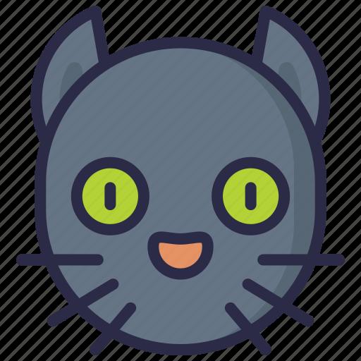 black cat, devil, evil, halloween icon