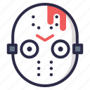 friday, halloween, hockey, jason, mask, menace, voorhees icon