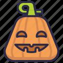 halloween, jack-o-lantern, pumpkin, spooky icon