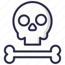crossbone, halloween, skull icon