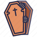 coffin, dead, evil, halloween, scary, spooky icon