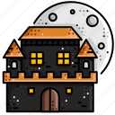 ghost, haunted, home, horror, house, scary icon
