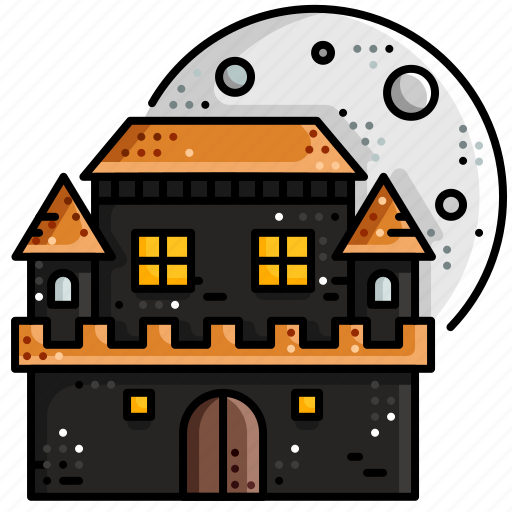 Ghost Haunted Home Horror House Scary Icon