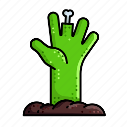 ghost, hand, haunted, scary, zombie icon