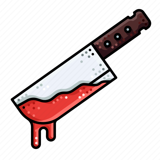 blood, cut, halloween, knife, weapon icon