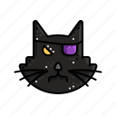 black, cat, evil, halloween, magic, taboo icon