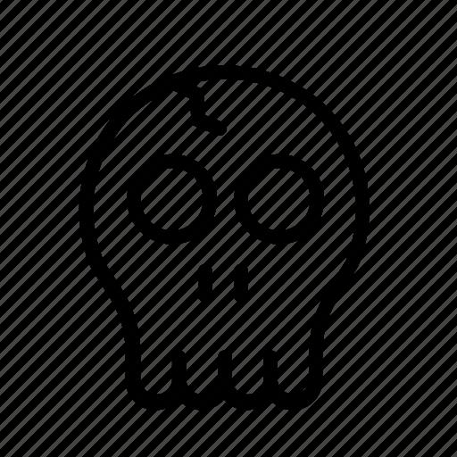 braincase, brainpan, deaths head, halloween, skull icon