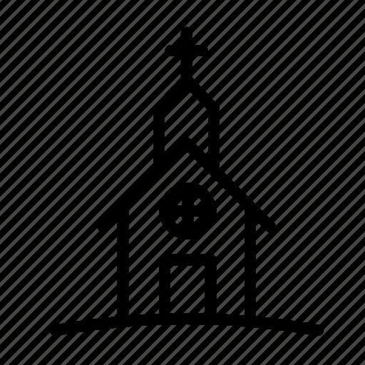 chapel, church, halloween, kirk, temple icon