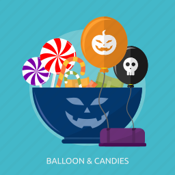 balloon, candies, candy, halloween, horror, sugar, sweet icon