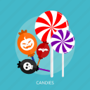candies, candy, halloween, lollipop, sugar, sweet icon