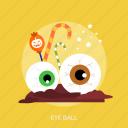 ball, candy, disgusting, eye, eye ball, halloween icon