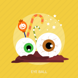ball, candy, disgusting, eye, eye ball, halloween icon