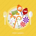 candies, candy, free candies, halloween, sugar, sweet icon