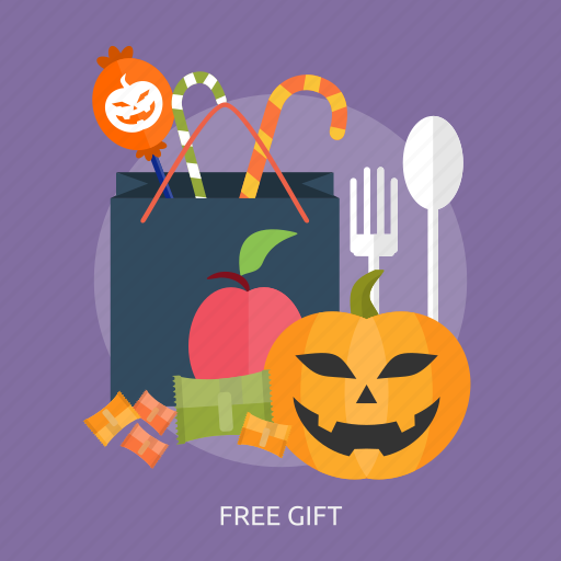 bag, candies, free gift, gift, halloween, pupkin icon
