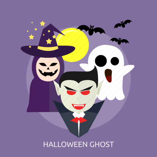 bats, ghost, halloween, horror, moon, vampire, witch icon