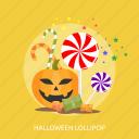 halloween, horror, lollipop, pupkin, sugar, sweet icon