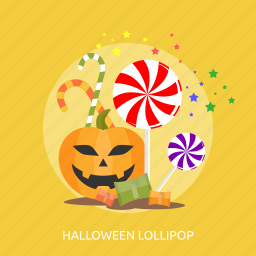 halloween, horror, lollipop, pupkin, sugar, sweet icon