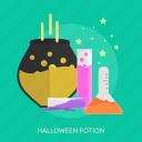 bottle, dead, fluid, halloween, horror, potion icon