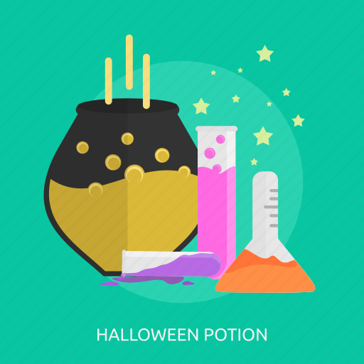 bottle, dead, fluid, halloween, horror, potion icon