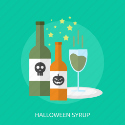 bottle, fluid, glass, halloween, party, syrup icon