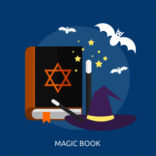bats, book, evil, halloween, magic, stick icon