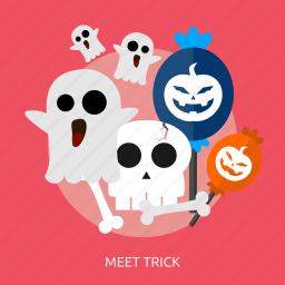 candy, ghost, halloween, horror, meet, party, trick icon
