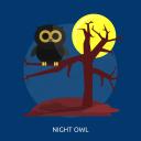 halloween, night owl, night.moon, owl, scary, tree icon