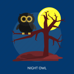 halloween, night owl, night.moon, owl, scary, tree icon