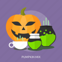 glass, halloween, mix, potion, pumkin, pumpkin mix icon